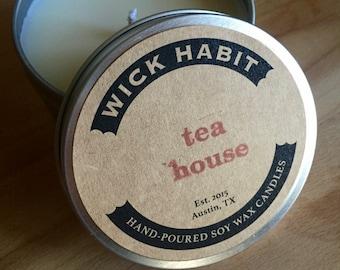Tea House Soy Candle // Black Tea, Cinnamon, Bergamot, Tonka Bean