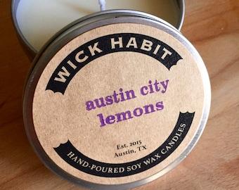 Austin City Lemons Soy Candle // Lemon-Lavender Pound Cake
