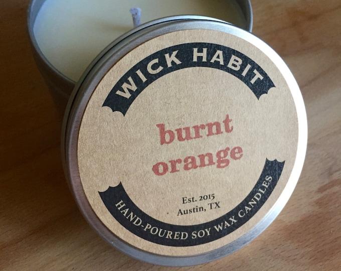 Burnt Orange Soy Candle // Citrus Blend