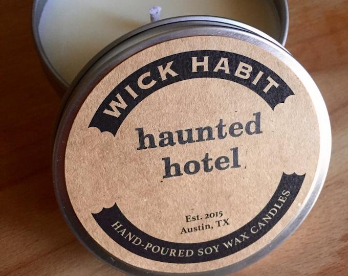 Haunted Hotel Soy Candle  // Polished Wood, Leather, Rose Perfume