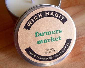 Farmers Market Soy Candle // Greens and Mixed Herbs