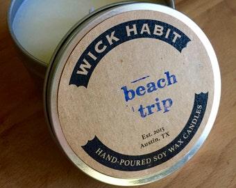 Beach Trip Soy Candle // Salty Sea Air