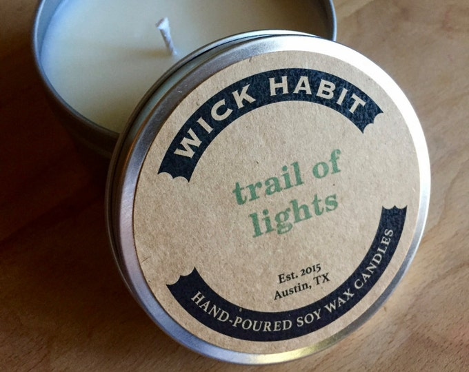 Trail of Lights Soy Candle  // Blue Spruce