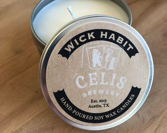 Celis Brewery Soy Candle  // Orange, Coriander, Lemon