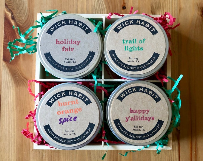 Holiday Soy Candle Gift Set (8 oz)