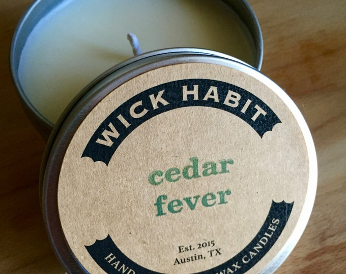 Cedar Fever Soy Candle (8 oz)  // Cedar and Honey