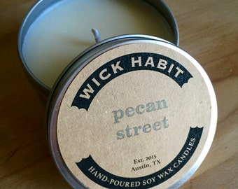 Pecan Street Soy Candle // Caramelized Pecans