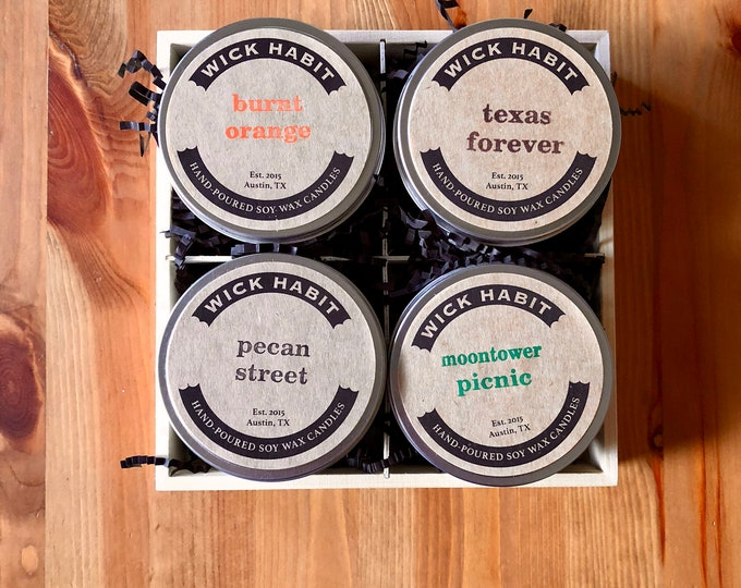 All About Austin Soy Candle Gift Set (8 oz)