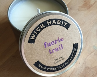 Faerie Trail Soy Candle // Dogwood, Moss, Almond