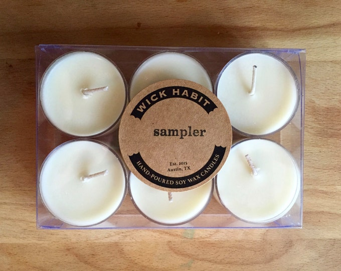 Best Sellers Tea Light Sample Pack //Six Tea Lights //Soy Candles