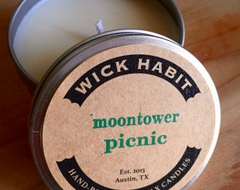 Moontower Picnic Soy Candle // Fresh Grass and Lemonade
