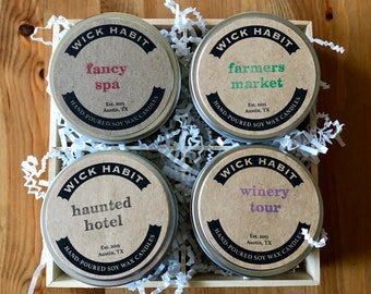 CREATE YOUR OWN Soy Candle Gift Set (8 oz)