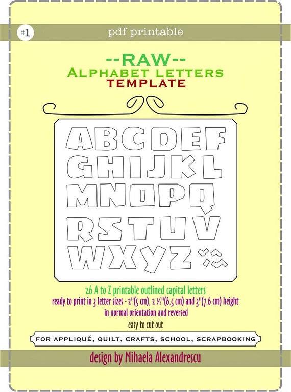RAW Alphabet Letters Template-Mihaela Alexandrescu