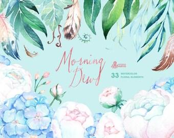 Sylvia Protea Watercolor Floral Clipart Wedding