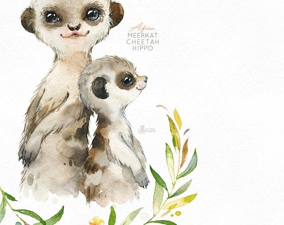 MEERKATS animale Donna Felpa Maglione-Meerkat Carino Regalo