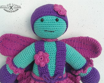 Amigurumi Pattern - Crochet Doll - PDF Tutorial - Miss Dragonfly by Atelier Sopra