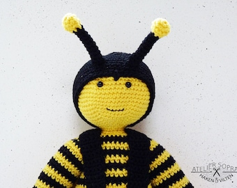 Amigurumi Pattern - Crochet Doll - PDF Tutorial - Mister Bee by Atelier Sopra
