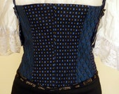 Up Cycled Men's Tie Corset,Up cycled Corset, Mens tie Corset,Steampunk Corset, Bodice, Waist cincher, Boho Bodice, Corset,Pirate Wench