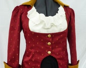 Red Jacket, Ring Master Jacket, Ladies Pirate Coat, Pirate Wench, Pirate Costume, Gothic, Reenactment, Ren Faire, Steampunk Jacket, LARP