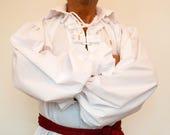 Pirate Shirt, Jack sparrow,Captain Hook shirt,White Shirt,Mens Shirt, Soldier Shirt,Renaissance shirt,Halloween