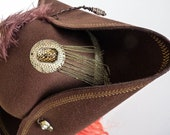 Unisex Pirate Tricorn Hat, Jack Sparrow Fantasy Captain Hook Hat, Steampunk Gothic Town Crier Hat, Pirate Wench Hat, LARP, Ren Faire