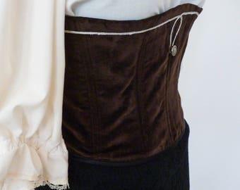 28a1b6a6ce24b Velvet pirate corset