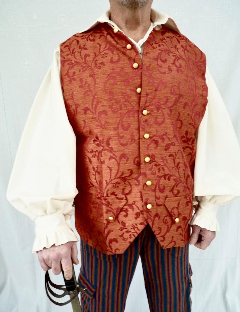 Jack Sparrow Mens Waistcoat Pirate Vest Groomsman Wedding Waistcoat LARP,Gothic,Pirate Costume,Steampunk Civil War Reenactment Ren Faire