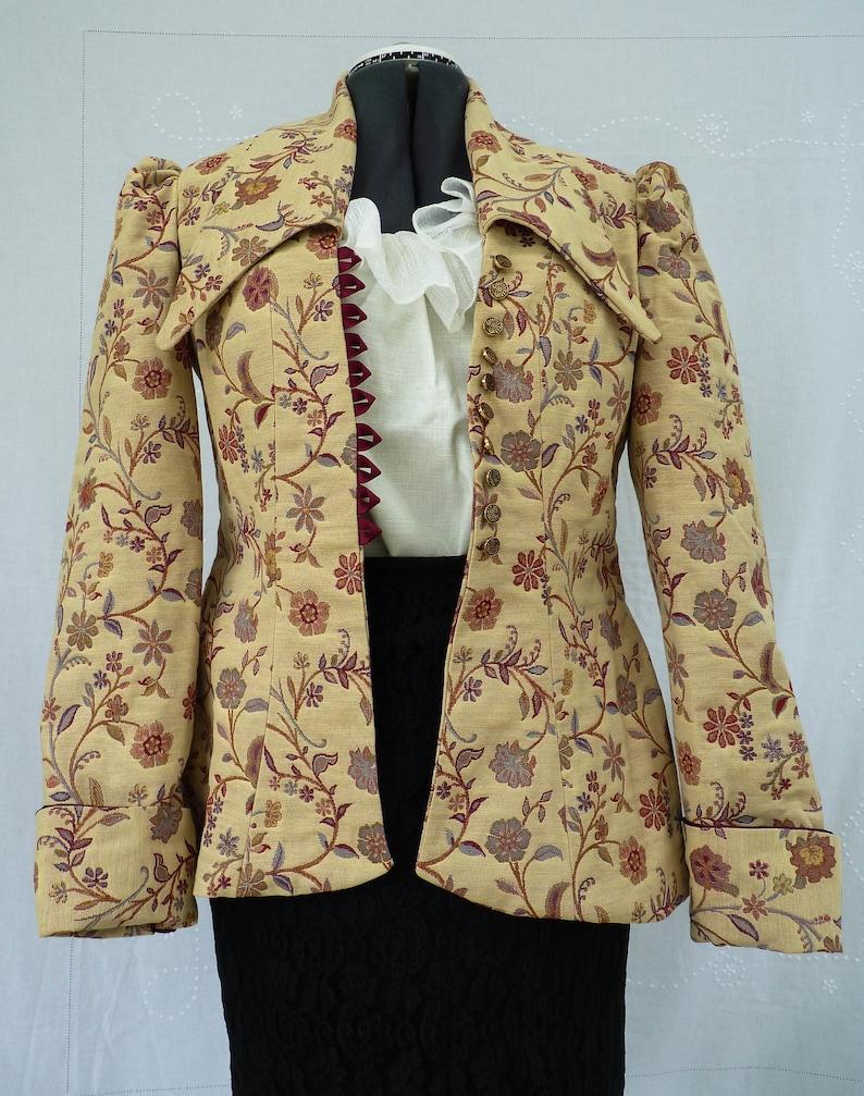 55571fe1ddc249 Womens Victorian Edwardian Coat JacketBustle Fish Tail | Etsy