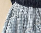 1f772f6e2 Blue tartan skirt Maxi skirts Plaid skirt Pleated skirt Plus size skirts  Puffy skirt High waisted skirts Full maxi skirt Plaid maxi skirt