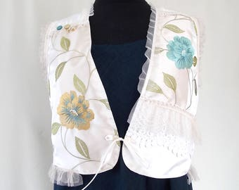 Boho vest.Vest patchwork. Women vest.Vest vanilla.Assimetrical caftan.Gipsy.