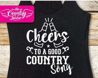 Country festival, Country music tank, Country concert, Country shirt, Country girl, Country Concert Tees, Southern, Cheers to a Country Song