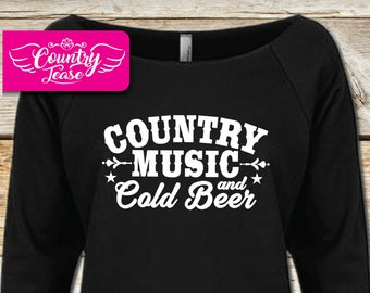 Country festival, Country music Long Sleeve, Country concert, Country shirt, Country girl, Country, tanks, Country Music and Cold Beer