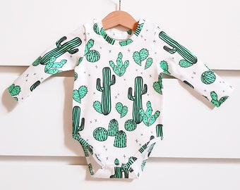 Baby bodysuit, organic cotton, baby girl bodysuit, baby boy bodysuit, organic baby clothes, newborn clothes, cactus clothes, baby shower
