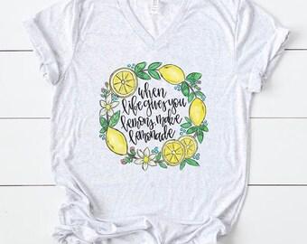 9db304b18 Lemon shirt | lemon graphic tee | lemon art | tshirt | cute shirt for womeb  | when life gives you lemons make lemonade | mothers day gift