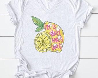 Lemon heart t-shirt  lemon heard printed t-shirt  gifts for plant lovers plant illustration shirt