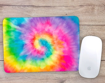 Rectangle Tie Dye Mouse Pad Round Tie Dye Mouse Pad Great Stocking Stuffer! Great Teacher Gift!