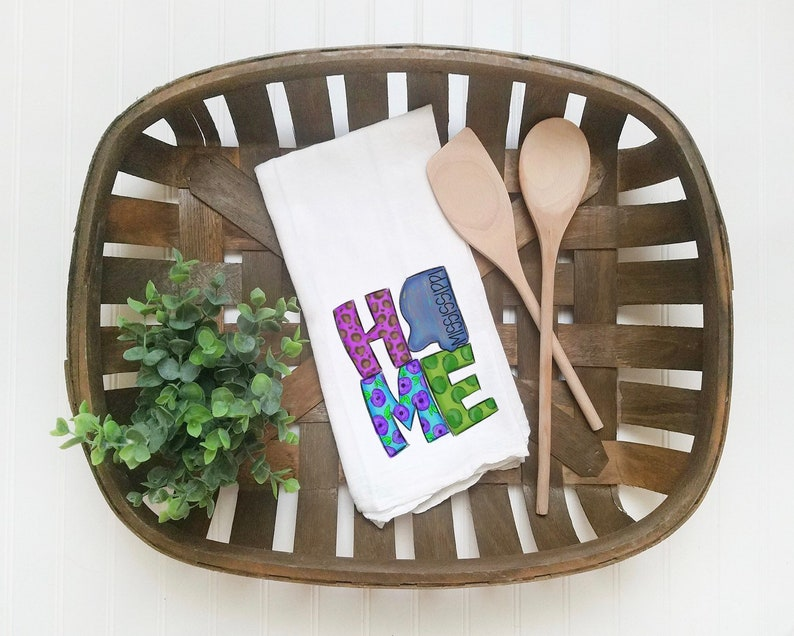 Mississippi Decoration | Kitchen Towel | Mississippi Gift Idea | Cute Gift  Idea | Mothers Day Gift | Decorative Towel For Kitchen