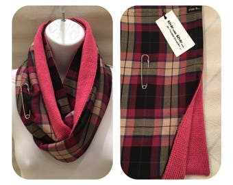 Double Faced Tartan Kilted Cowl...