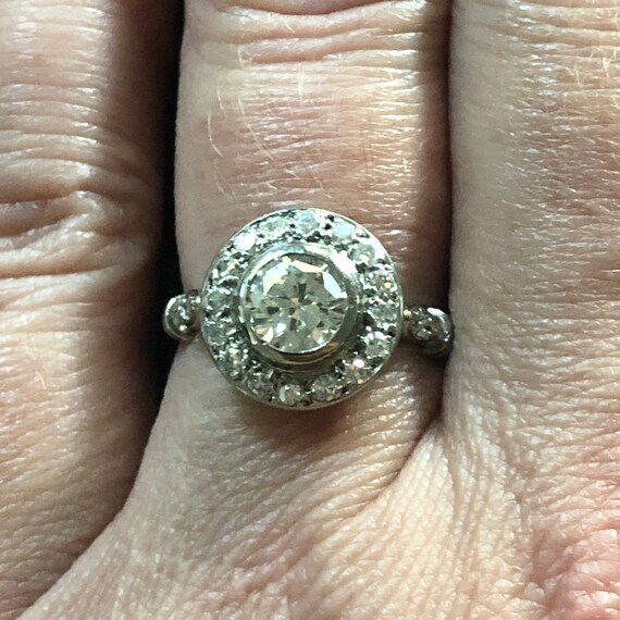 1920-1930's Art Deco diamond engagement ring