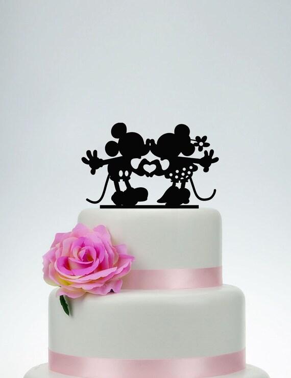 Mickey And Minnie Cake Topper Wedding Cake TopperCustom Cake   Etsy