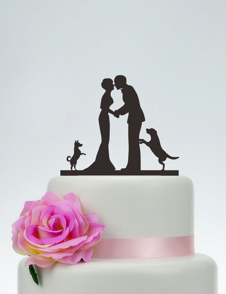 Kiss Bride And Groom Cake TopperWedding Cake TopperCustom image 0