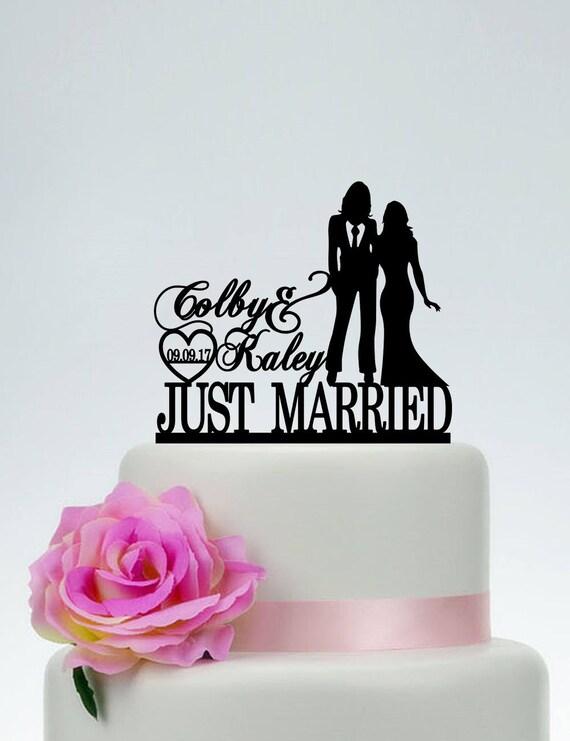 Frau Und Frau Hochzeitstorte Topper Gleichen Geschlechts Cake Etsy