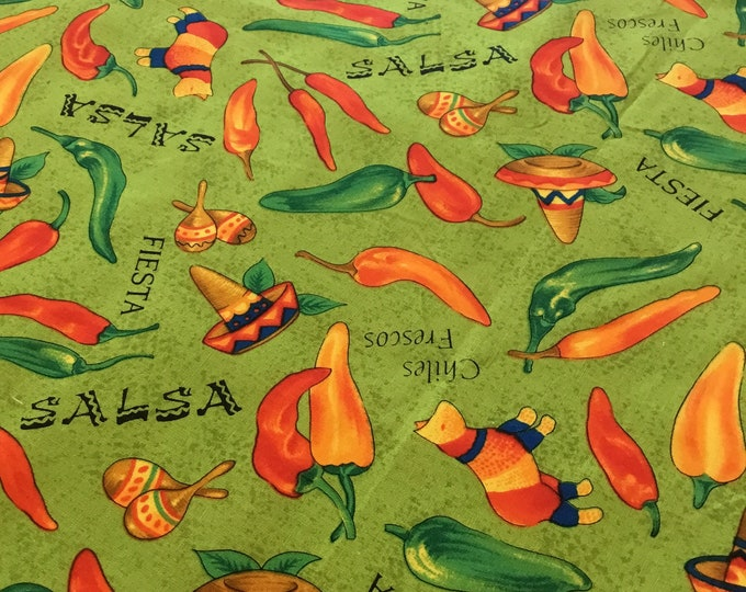 Robert Kaufman fiesta fabric by the yard, Cotton fabric 36x45, fun for crafting and sewing projects, same day shipping