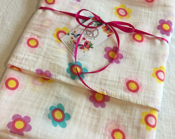 Double gauze swaddle, Muslin swaddle, receiving blanket, cotton baby blanket, baby swaddle, muslin blanket, baby girl, baby blanket, gift