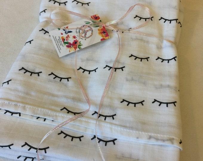 Double gauze swaddle, unicorn, bamboo, corton Muslin swaddle, swaddle baby blanket, light weight breathable baby blanket