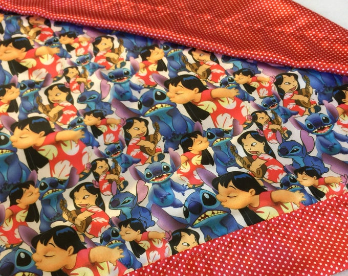 Baby blanket, Silky blanket, Stroller blanket, Lovey, silky, Lilo and Stitch, disney, homemade, baby gift, personalized