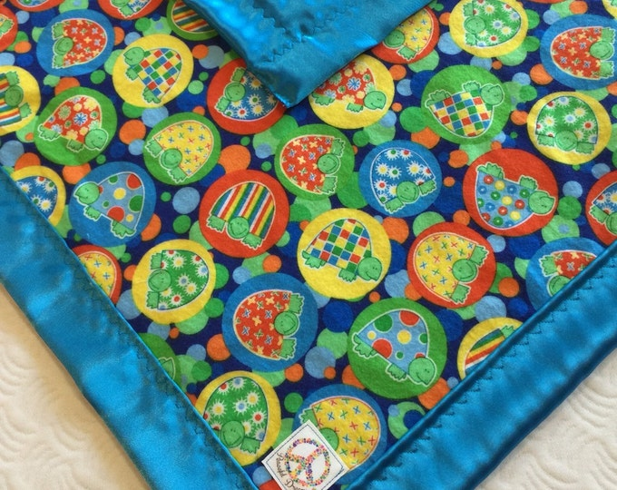 Travel Turtle Silky Baby Blanket