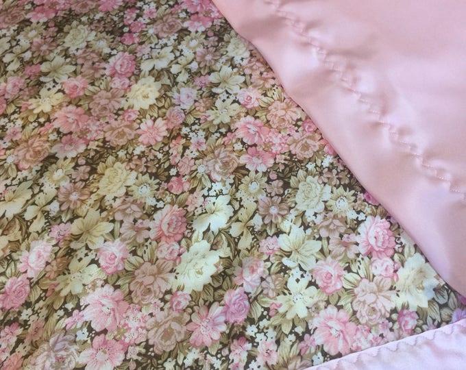 Silky Blanket, luxurious lap blanket, baby shower, bridal shower, Silky Satin blanket, wedding gift, personalized blanket