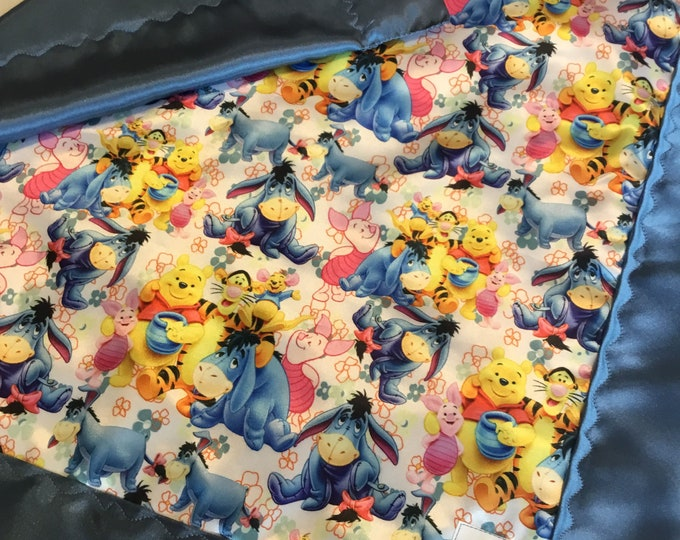 Winnie the Pooh 20x20 lovey, This Disney lovey is silky on both side with light weight batting, perfect security blanket