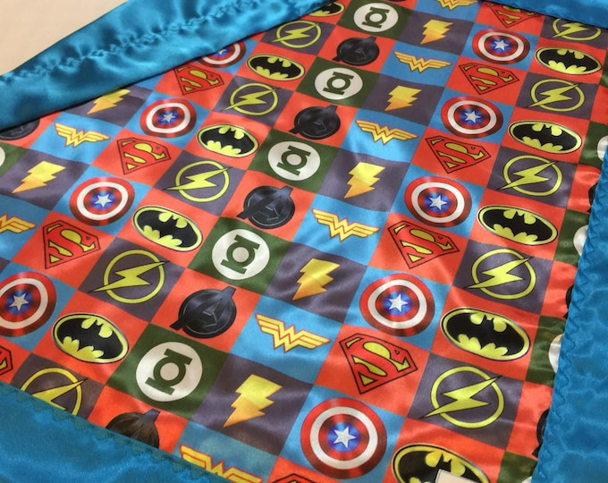 Custom listing 35x45 Super hero silky blanket